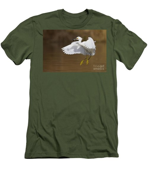 Snowy With A Fish Men's T-Shirt (Athletic Fit)