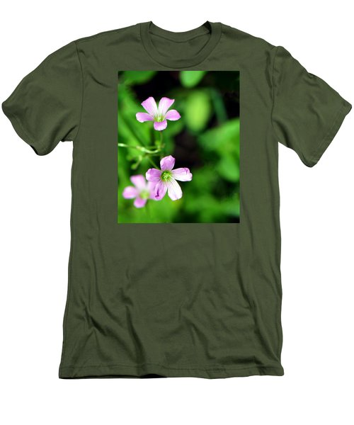So Delicate In Purple. Texas Spring Perennial Men's T-Shirt (Slim Fit) by Connie Fox
