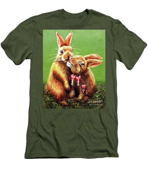 Some Bunny Loves You Men's T-Shirt (Slim Fit) by Linda Simon