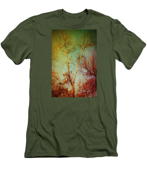 Souls Of Trees Men's T-Shirt (Slim Fit) by Trish Mistric
