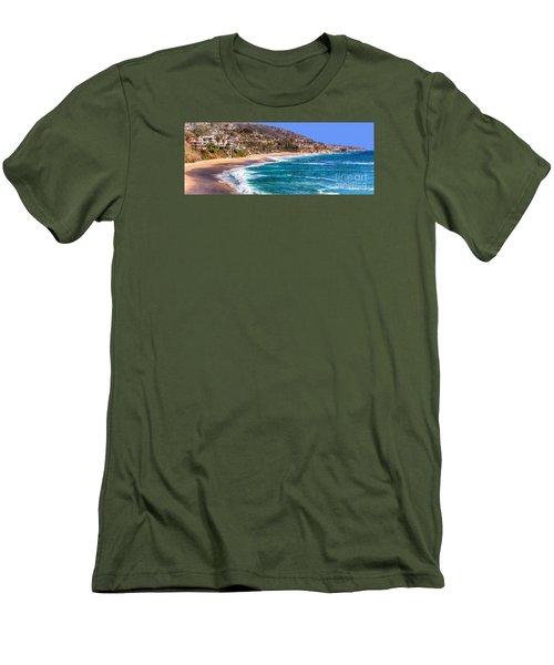 South Laguna Beach Coast Men's T-Shirt (Slim Fit) by Jim Carrell