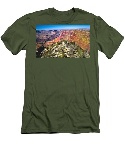 South Rim From The Butte Men's T-Shirt (Slim Fit) by Robert Bales