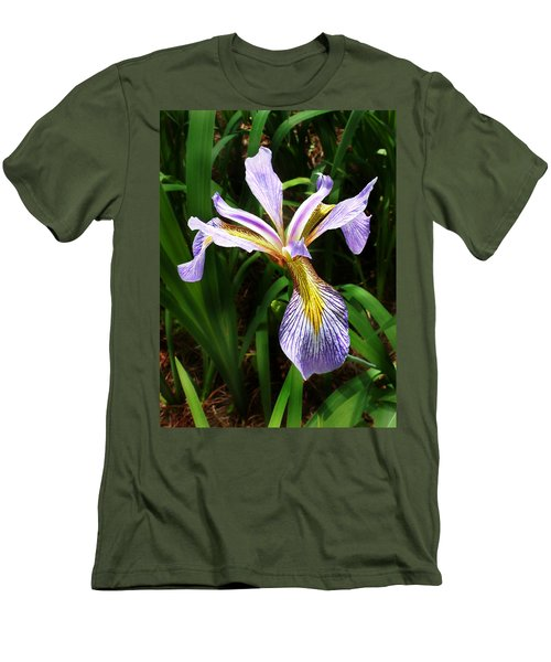 Southern Blue Flag Iris Men's T-Shirt (Athletic Fit)