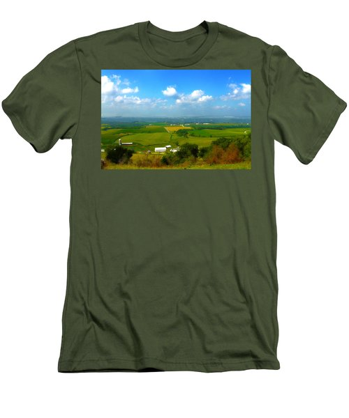 Southern Illinois River Basin Farmland Men's T-Shirt (Athletic Fit)