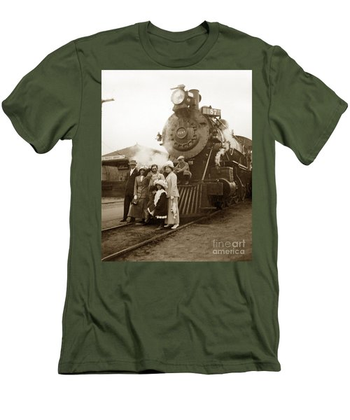 S P Baldwin Locomotive 2285  Class T-26 Ten Wheel Steam Locomotive At Pacific Grove California 1910 Men's T-Shirt (Athletic Fit)