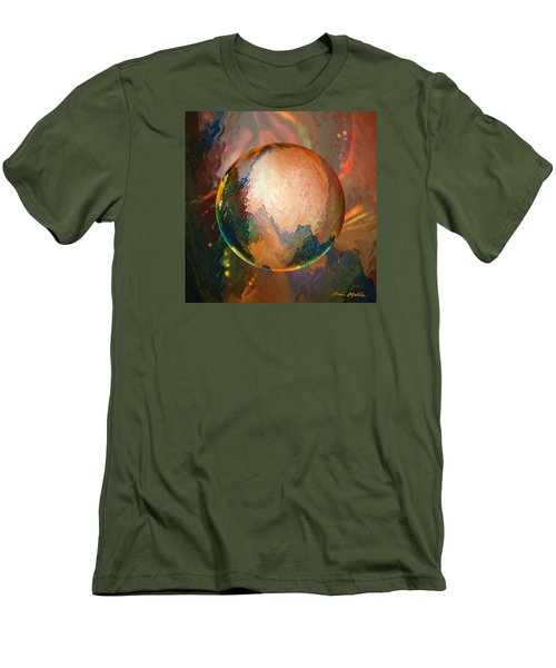 Men's T-Shirt (Slim Fit) featuring the digital art Sphering Lunar Vibrations by Robin Moline