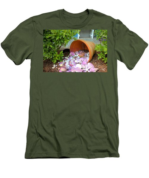 Men's T-Shirt (Slim Fit) featuring the photograph Spilled Shels by Gordon Elwell