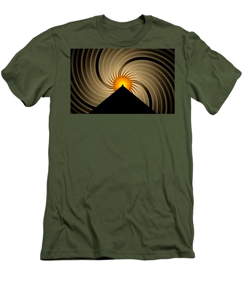 Men's T-Shirt (Slim Fit) featuring the digital art Spin Art by GJ Blackman