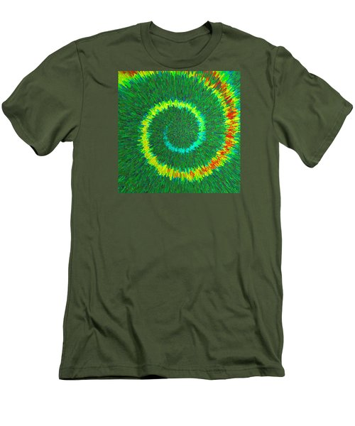 Spiral Rainbow C2014 Men's T-Shirt (Slim Fit) by Paul Ashby