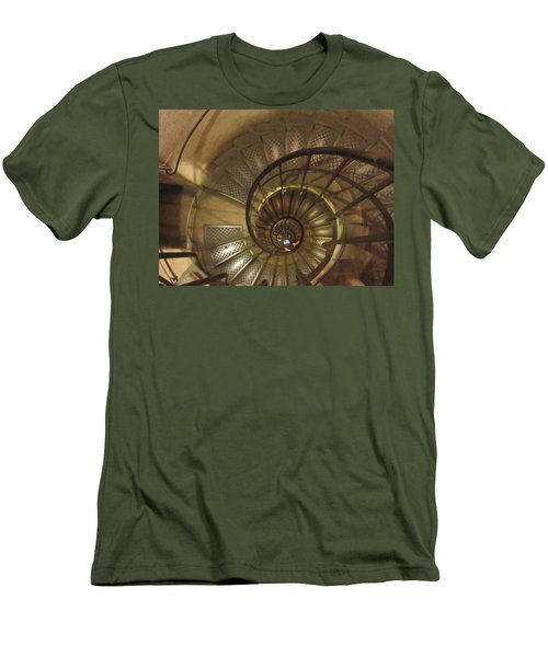 Spiral Staircase Men's T-Shirt (Slim Fit) by Pema Hou