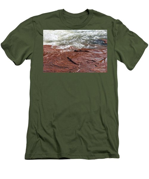 Spring At Sedona In Spring Men's T-Shirt (Slim Fit) by Debbie Hart
