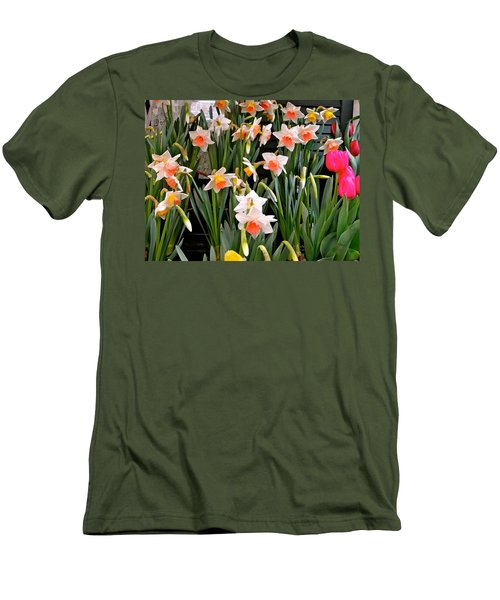 Men's T-Shirt (Slim Fit) featuring the photograph Spring Daffodils by Ira Shander