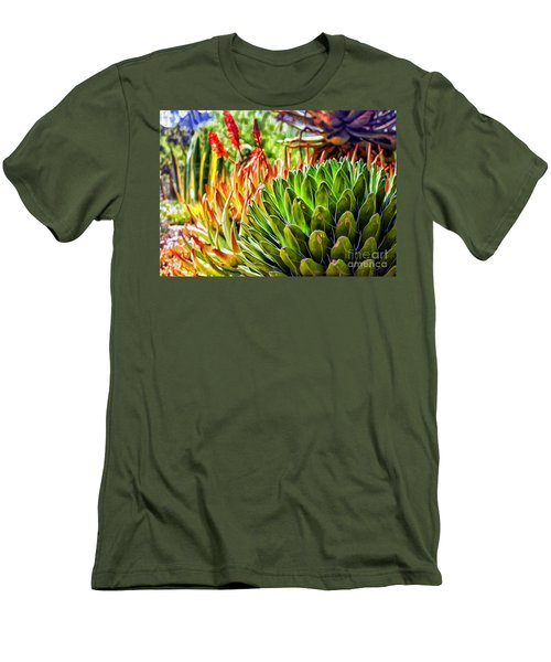 Spring Desert In Bloom Men's T-Shirt (Athletic Fit)