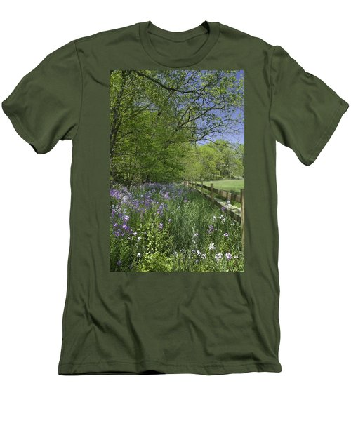 Spring Wildflowers Men's T-Shirt (Athletic Fit)