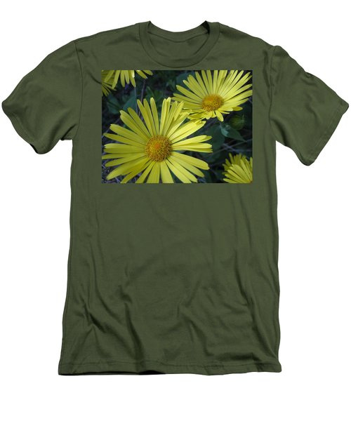 Men's T-Shirt (Slim Fit) featuring the photograph Spring Yellow  by Cheryl Hoyle
