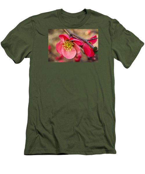 Springtime Quince Men's T-Shirt (Slim Fit) by Julie Andel