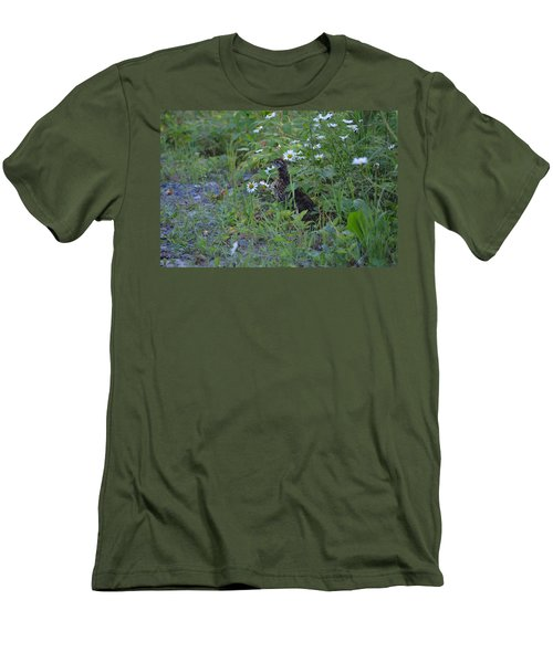 Men's T-Shirt (Slim Fit) featuring the photograph Spruce Grouse by James Petersen