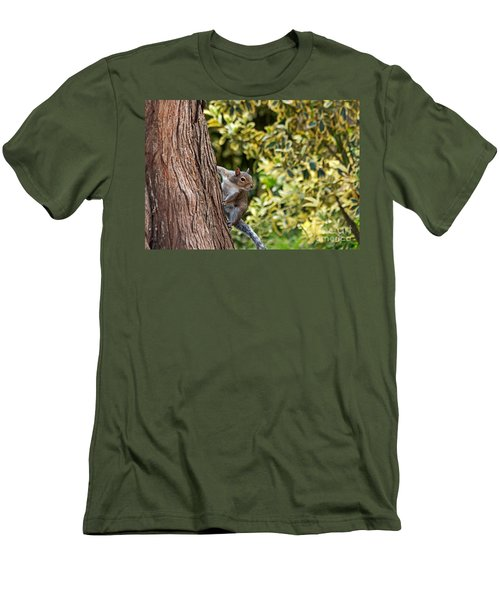 Men's T-Shirt (Slim Fit) featuring the photograph Squirrel by Kate Brown