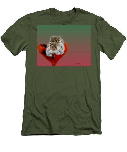 Squirrels Valentine Men's T-Shirt (Athletic Fit)