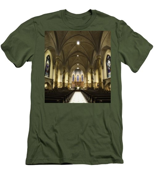 Men's T-Shirt (Slim Fit) featuring the photograph St Mary's Catholic Church by Lynn Geoffroy