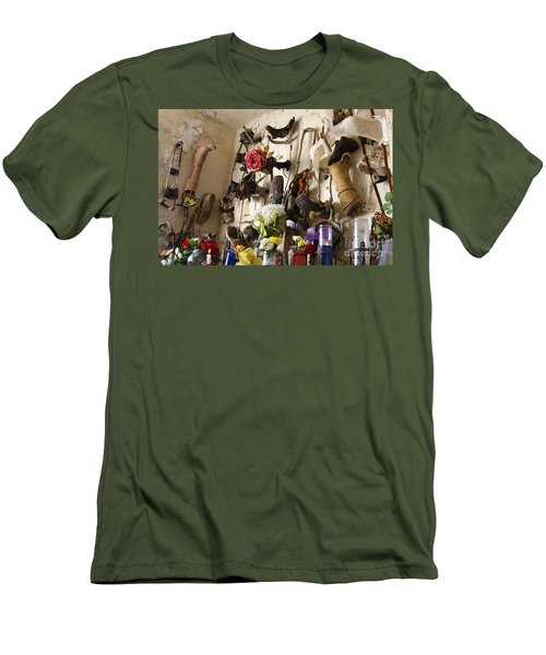 Men's T-Shirt (Slim Fit) featuring the photograph New Orleans St Roch Cemetery by Luana K Perez
