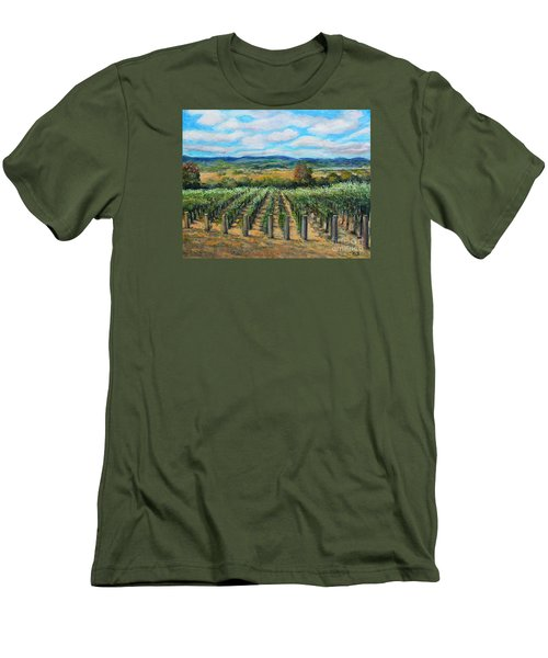 Stags' Leap Vineyard Men's T-Shirt (Slim Fit) by Rita Brown