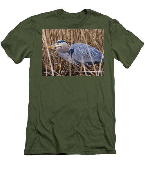 Stalking Fish In The Reeds Men's T-Shirt (Slim Fit) by Allan Levin