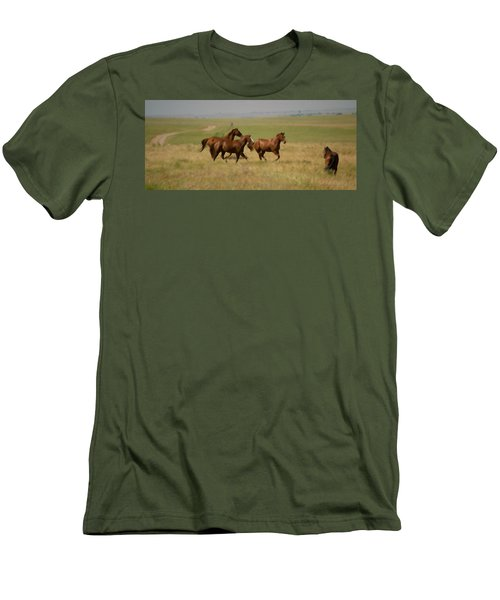 Men's T-Shirt (Slim Fit) featuring the photograph Stances by Rima Biswas