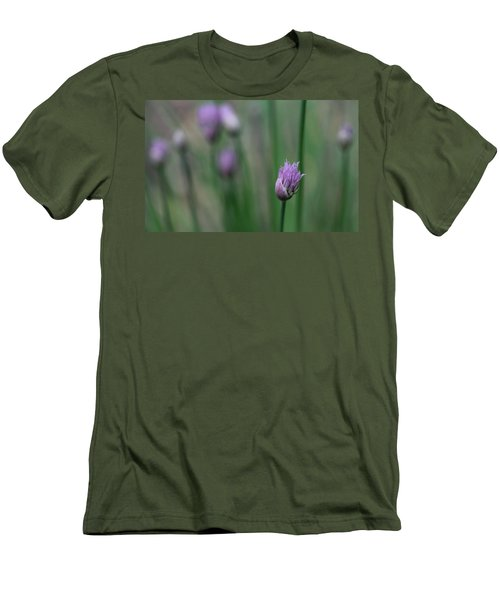 Men's T-Shirt (Slim Fit) featuring the photograph Not Just A Pretty Flower by Debbie Oppermann