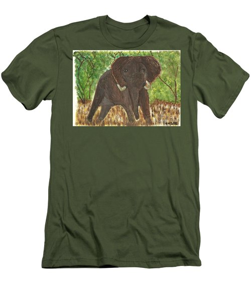 Men's T-Shirt (Slim Fit) featuring the painting Standing My Ground by Tracey Williams