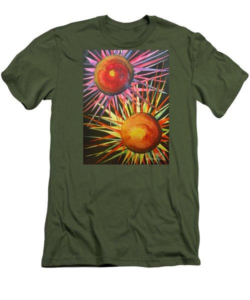 Stars With Colors Men's T-Shirt (Slim Fit) by Chrisann Ellis