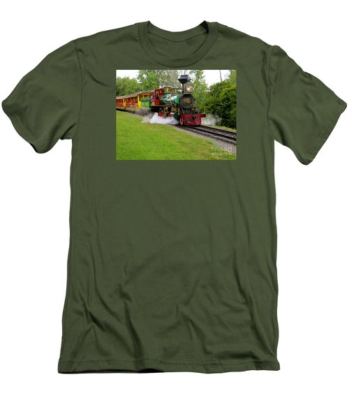 Steam Train Men's T-Shirt (Slim Fit) by Joy Hardee