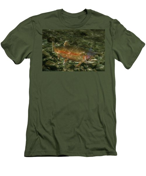Steelhead Trout Spawning Men's T-Shirt (Slim Fit) by Randall Nyhof