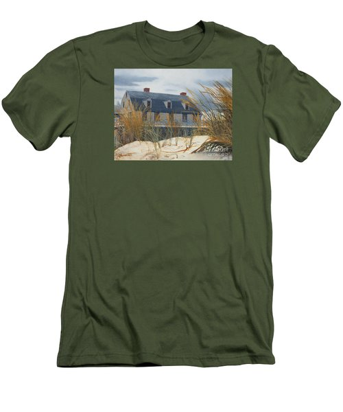 Stevens House Men's T-Shirt (Slim Fit) by Barbara Barber