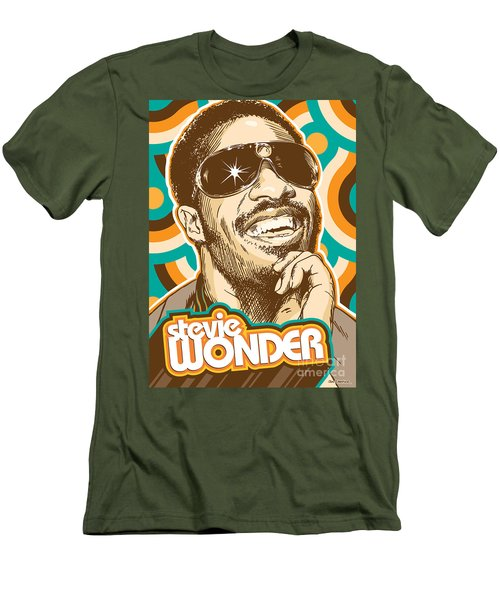 Stevie Wonder Pop Art Men's T-Shirt (Athletic Fit)