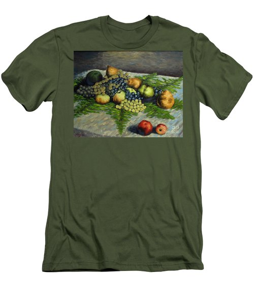Still Life With Pears And Grapes Men's T-Shirt (Athletic Fit)