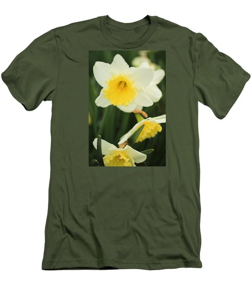 Stillness Men's T-Shirt (Slim Fit) by Julie Andel
