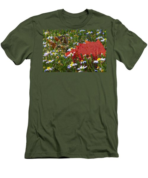 Men's T-Shirt (Slim Fit) featuring the photograph Stocking Up For The Winter by Gary Holmes