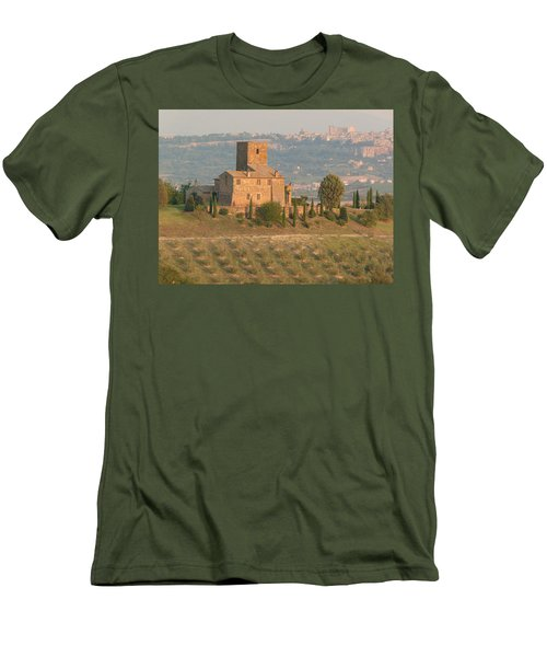 Men's T-Shirt (Slim Fit) featuring the photograph Stone Farmhouse by Marcia Socolik