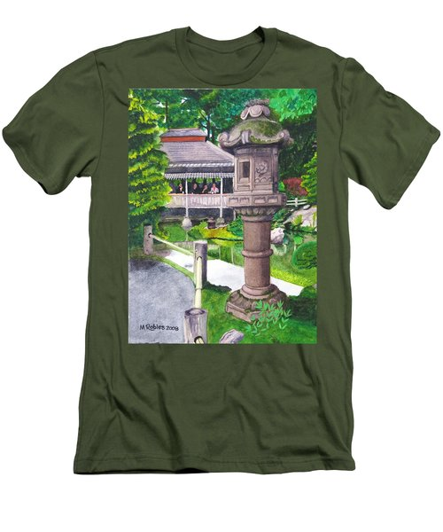 Stone Lantern Men's T-Shirt (Slim Fit) by Mike Robles