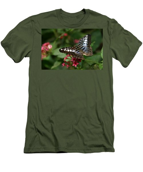 Men's T-Shirt (Slim Fit) featuring the photograph Stopping By by Denyse Duhaime
