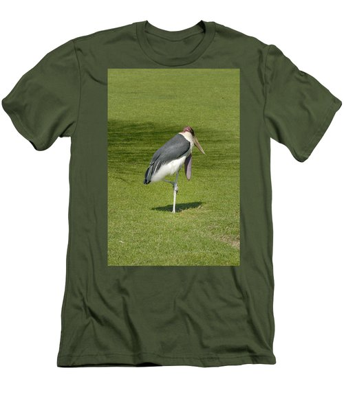 Men's T-Shirt (Slim Fit) featuring the photograph Stork by Charles Beeler
