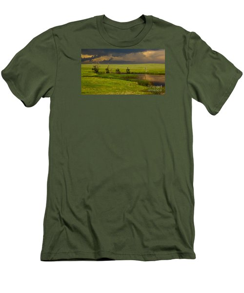 Storm Crossing Prairie 1 Men's T-Shirt (Athletic Fit)