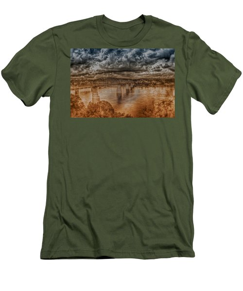 Stormy Clouds Men's T-Shirt (Athletic Fit)