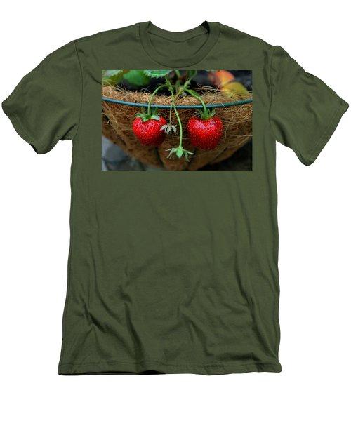 Strawberries Men's T-Shirt (Slim Fit) by Pamela Walton