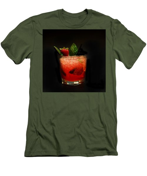 Strawberry Mojito Men's T-Shirt (Athletic Fit)