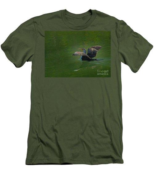Strutting Cormorant Men's T-Shirt (Athletic Fit)