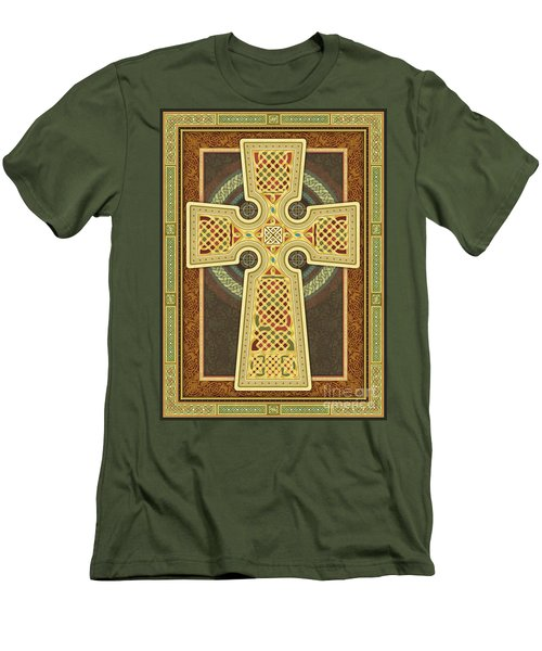 Stylized Celtic Cross Men's T-Shirt (Athletic Fit)