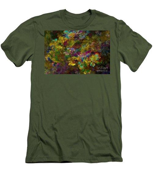 Men's T-Shirt (Slim Fit) featuring the digital art Summer Burst by Olga Hamilton