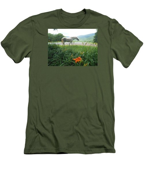 Summer Day Memories With The Paso Fino Stallion Men's T-Shirt (Athletic Fit)